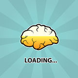 Gehirn lädt Lizenzfreie Stockfotos