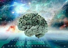 Gehirn löst sich auf Stockfotografie