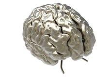 Gehirn mit Ausschnittsmaske Stock Abbildung