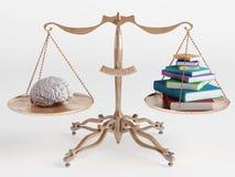 Gehirn und Bücher Lizenzfreies Stockfoto