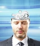 Gehirn und Blitze Lizenzfreie Stockfotos