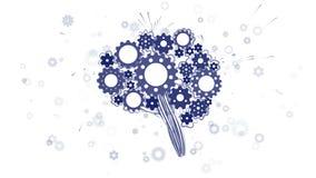 Gehirn von den Gängen lizenzfreie abbildung