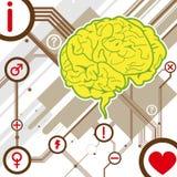 Gehirnabbildung-Hintergrundvektor Lizenzfreies Stockfoto