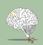 Gehirnlabyrinth zur geheimen Idee Lizenzfreie Stockbilder