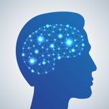 Gehirnnetzikone Lizenzfreies Stockfoto