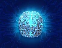 Gehirntechnologie stock abbildung