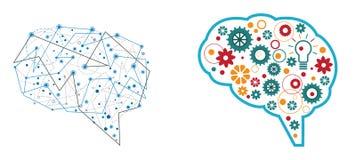 Gehirnzusammenfassungsdesign Stockbilder