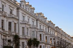 Gehobene Häuser Notting Hill London Stockfoto