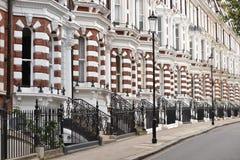 Gehobene London-Häuser Lizenzfreies Stockfoto