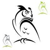 Gehoornde uil vector illustratie