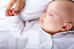 Gehouden van baby Stock Afbeelding
