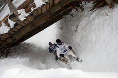 Gehörntes Schlitten-Rennen 2012 in Turecka, Slowakei Lizenzfreies Stockfoto
