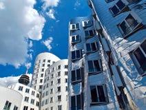 Gehry Bauten в Германии в Duesseldorf, здесь белом здании стоковое фото rf