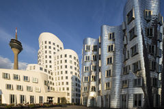Gehry buildings, Dusseldorf Royalty Free Stock Image