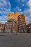 Gehry byggnader av den Dusseldorf hamnen Royaltyfria Bilder