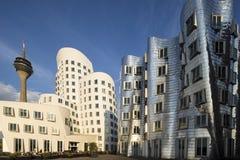 Gehry byggnader, Dusseldorf Royaltyfri Bild