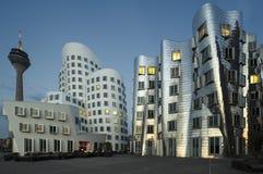 Gehry byggnader, Dusseldorf Arkivfoton