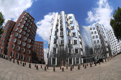 Gehry houses in Duesseldorf. The Gehry buildings are considered Düsseldorf's new landmark Stock Images