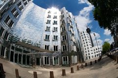 Gehry houses in Duesseldorf. The Gehry buildings are considered Düsseldorf's new landmark Stock Photography