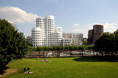 Gehry houses in Duesseldorf. The Gehry buildings are considered Düsseldorf's new landmark Royalty Free Stock Photography