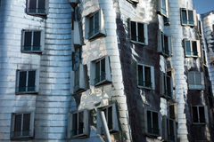 Gehry post-modern architecture Duesseldorf detail Royalty Free Stock Photo