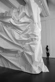 Gehry verpakt beeldhouwwerk Stock Afbeelding