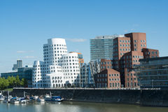 Gehrygebouwen Duesseldorf Stock Afbeelding