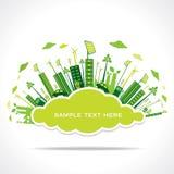 Geht Grüne oder Abwehrerde mit Wolkenformkonzept Lizenzfreie Stockfotografie