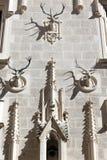 Geht Rotwild als Dekoration voran Stockbilder