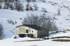 Gehucht in Lunada, Burgos Royalty-vrije Stock Foto