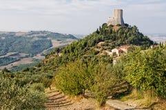 Gehucht - Rocca D ` Orcia stock foto's