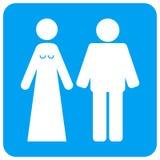 Gehuwd Vierkant de Roosterpictogram van Bruidegomand bribe rounded vector illustratie