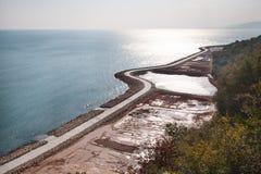 Gehweg auf dem Schwarzen Meer in Bulgarien. Stockbilder