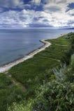 Gehweg auf der Schwarzmeerküstestadt von Balchik in Bulgarien Stockfoto