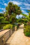 Gehweg entlang Soquel-Nebenfluss, in Capitola Lizenzfreie Stockfotos