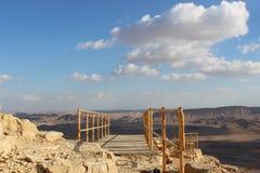 Gehweg in Mizpe Ramon, Israel Lizenzfreie Stockbilder