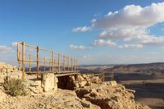 Gehweg in Mizpe Ramon, Israel Stockfotografie