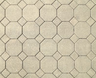 Gehweg-Pflasterungsbeschaffenheit des Ziegelsteines achteckige Stockbild
