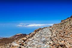 Gehweg um den Teide-Vulkan Lizenzfreies Stockfoto