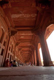 Gehweg um Fatehpur Sikri in Indien Stockfotografie
