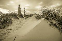 Gehweg zum Leuchtturm Lizenzfreie Stockfotografie