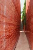 Gehwegbacksteinmauer Stockfoto