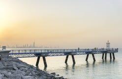 Gehwegbrücke Stockbilder