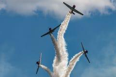 GEICO在飞行中Skytypers 免版税库存图片