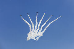 The Geico Skytypers Preforming Precision Aerial Maneuvers in Atlantic City Royalty Free Stock Photography