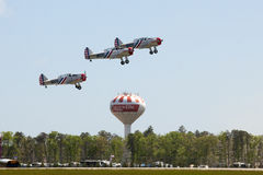 Geico Skytypers SNJ-2 World War II-era planes Stock Photos