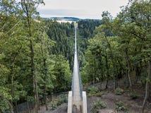 Geierlay upphängningbro, Moersdorf, Tyskland Arkivfoto