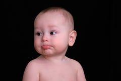 Geiferndes Baby stockbild