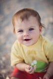 Geiferndes nettes Baby Stockbilder