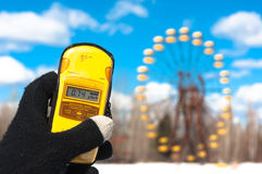 Geiger counter in chernobyl Royalty Free Stock Photography